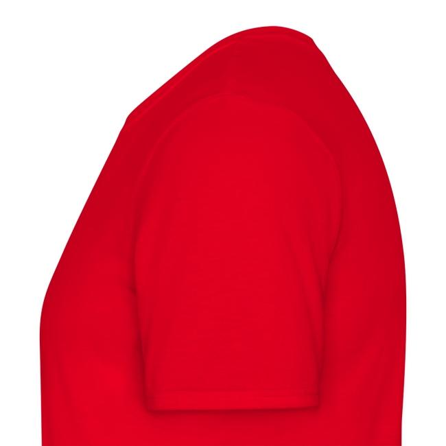 T-Shirt rouge croix celte blanche devant