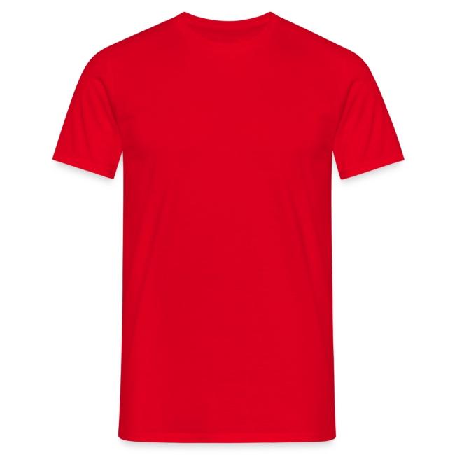 T-Shirt rouge croix celte blanche derrière