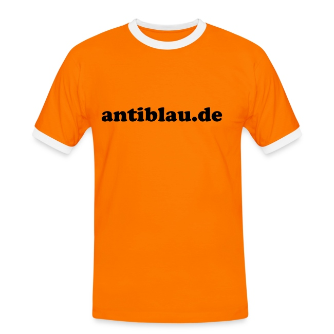 "T-Shirt ""antiblau.de"" (orange/schwarz)"