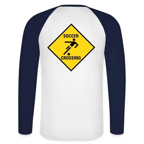 Longsleeve 'Soccerplayer Crossing' - Mannen baseballshirt lange mouw