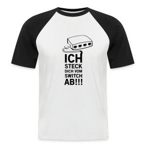 Angry LAN-Party Host (White/Black) - Männer Baseball-T-Shirt