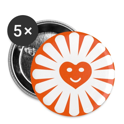 Button Sunshine - Buttons klein 25 mm (5er Pack)