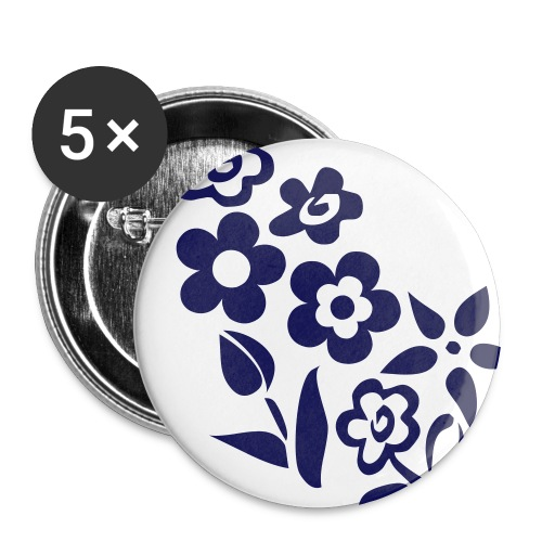 Button Flowerpower - Buttons mittel 32 mm (5er Pack)