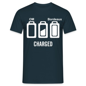 TS CHARGED OM BORDEAUX - T-shirt Homme
