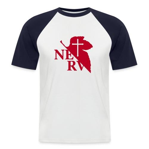 Shirt weiß/rot mit Logo - Männer Baseball-T-Shirt