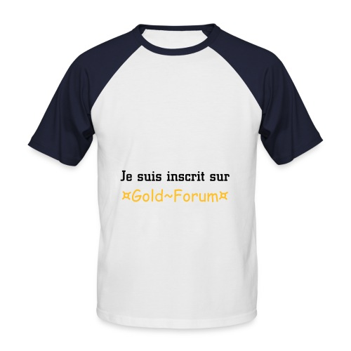 T-shirt Gold-Forum - T-shirt baseball manches courtes Homme