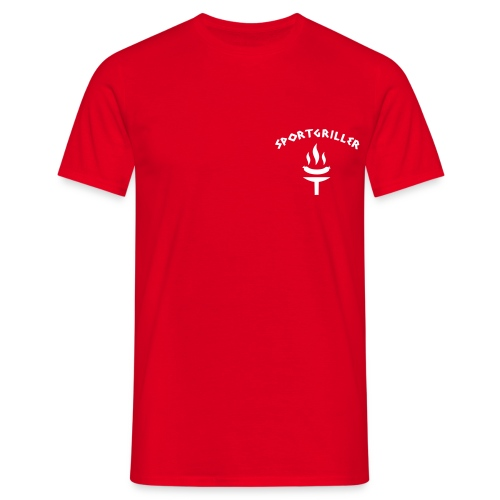 Sportgriller Shirt rot - Men's T-Shirt