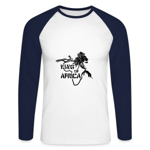 king of africa - T-shirt baseball manches longues Homme