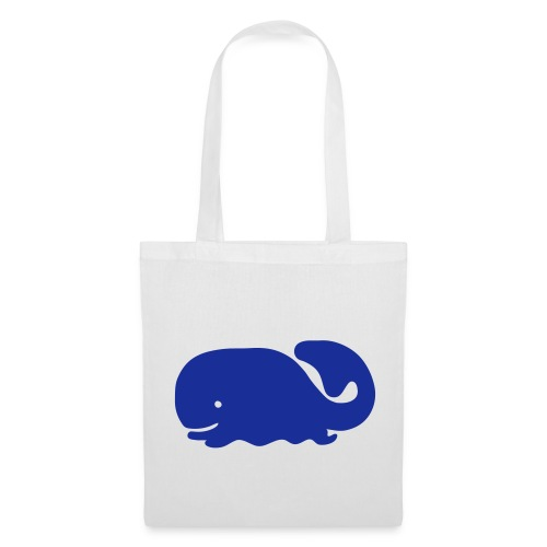 Blue Whale (White Shopping Bag) - Tote Bag