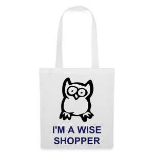Wise Owl (White Shopping Bag) - Tote Bag