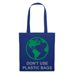 Green World (Blue Shopping Bag) - Tote Bag