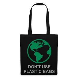 Green World (Black Shopping Bag) - Tote Bag