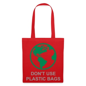 Green World (Red Shopping Bag) - Tote Bag