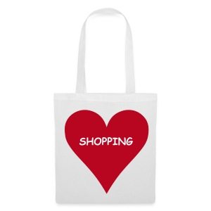 Love Shopping (White Shopping Bag) - Tote Bag