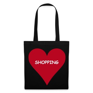 Love Shopping (Black Shopping Bag) - Tote Bag