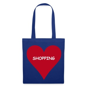 Love Shopping (Blue Shopping Bag) - Tote Bag