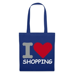 I Love Shopping (Blue Shopping Bag) - Tote Bag
