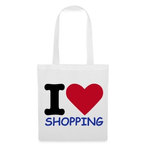 I Love Shopping (White Shopping Bag) - Tote Bag