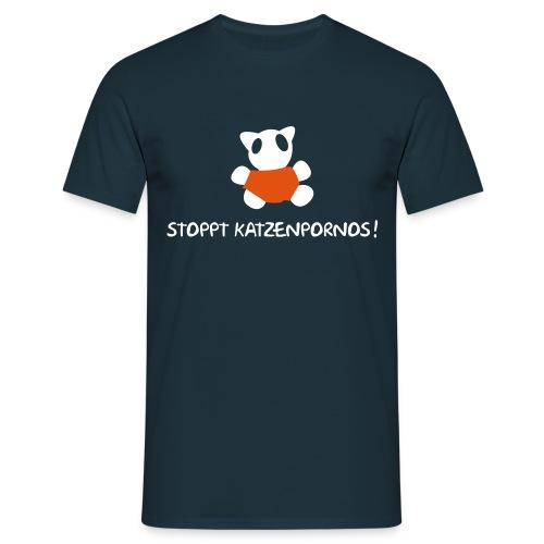 Katzenporno DBlau - Männer T-Shirt