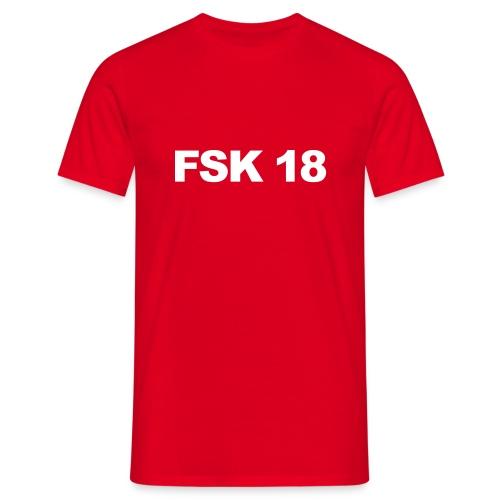 FSK 18 Rot - Männer T-Shirt