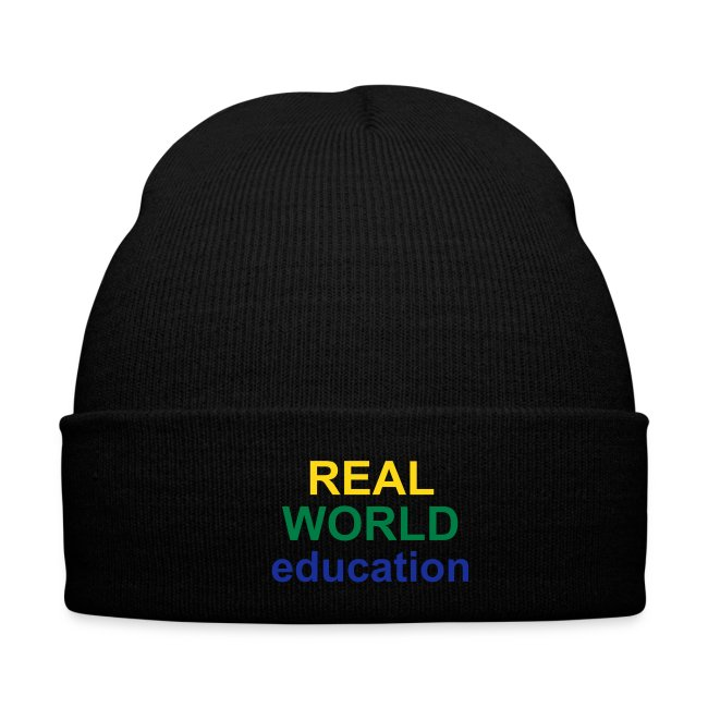 Real World Education winter hat red
