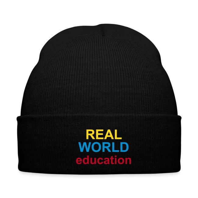 Real World Education winter hat green