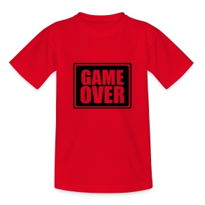 Red Game Over Kids T - Teenage T-shirt