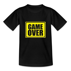 Black Game Over Kids T - Teenage T-shirt