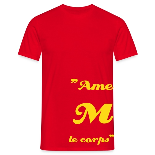 Ame M le corps (Rouge/Jaune) - T-shirt Homme
