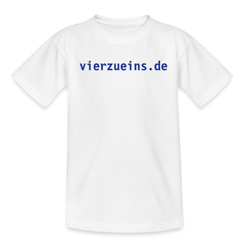 Kids Shirt vierzueins.de - Teenager T-Shirt