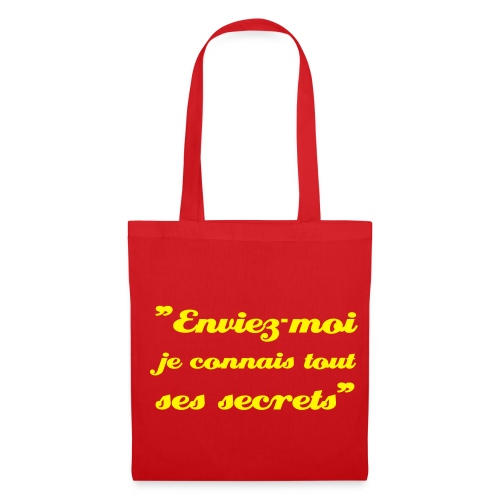 Mots-Dits shopping! (Rouge/Jaune) - Tote Bag
