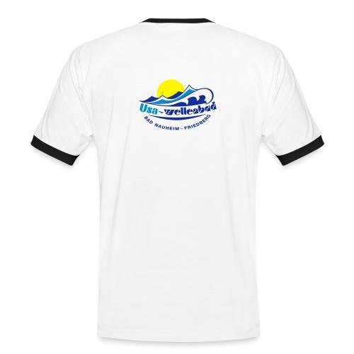 T-Shirt Usa-Wellenbad - Männer Kontrast-T-Shirt