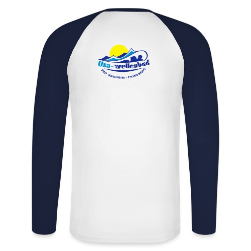 Langarm Usa-Wellenbad - Männer Baseballshirt langarm