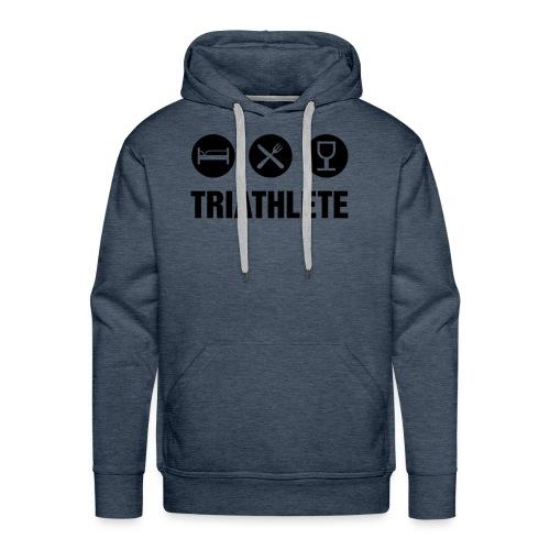 Triathlete - Sweat-shirt à capuche Premium pour hommes
