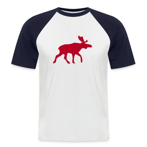 Elch rot - Männer Baseball-T-Shirt