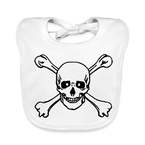 Baby bid - skull printed - Baby Organic Bib
