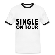 T-shirts ~ Kontrast-T-shirt herr ~ Single on tour