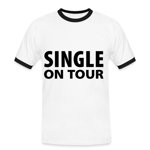 Single on tour - Kontrast-T-shirt herr