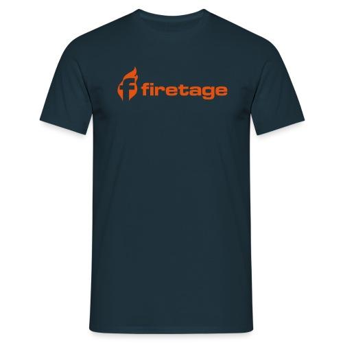 firetage Navy Label - Männer T-Shirt