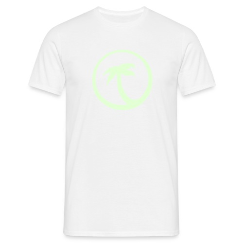 Palm Tree / Glow in the dark logo - Men's T-Shirt