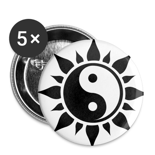 Yin & Yang - Buttons medium 32 mm