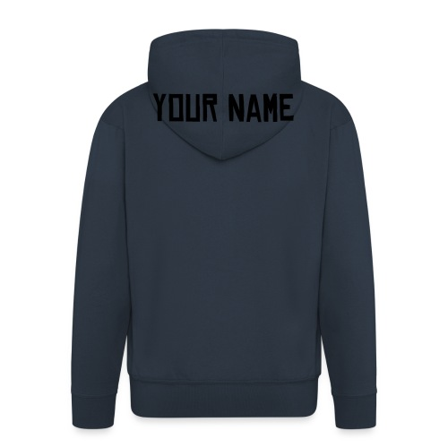 Your Name Jacket (BLUE) - Men's Premium Hooded Jacket