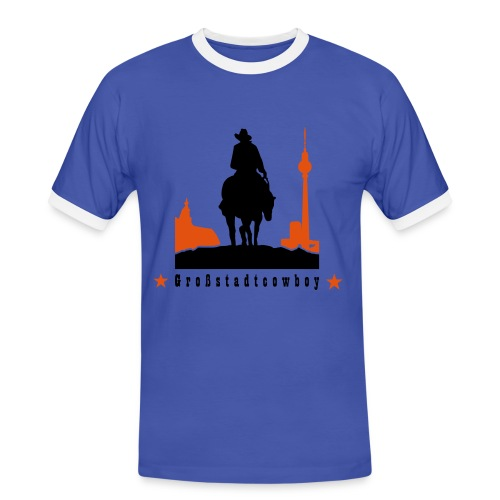 Großstadtcowboy - Männer Kontrast-T-Shirt