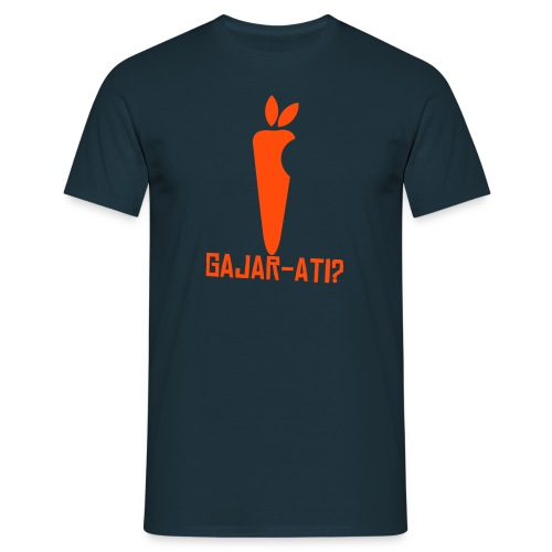Gajar-ati? Neon orange t-shirt - Men's T-Shirt