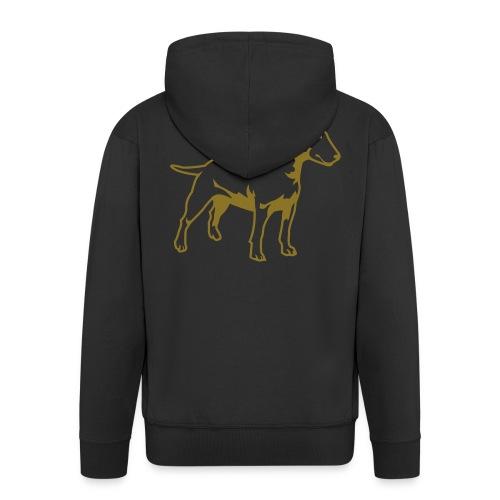 Bull Terrier gold - Premium Hettejakke for menn