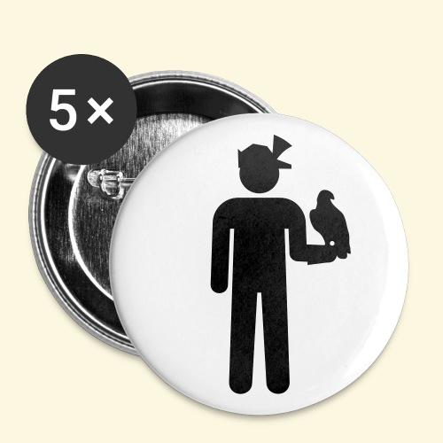 5 Buttons Falkner - Buttons groß 56 mm
