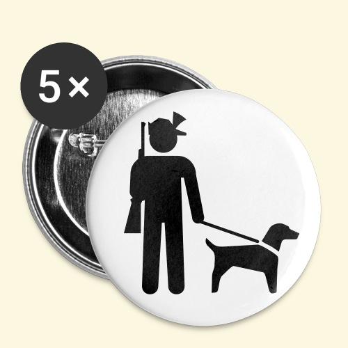 5 Buttons Hundeführer - Buttons groß 56 mm
