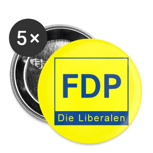 Button für alle FDP Verbände - Buttons klein 25 mm (5er Pack)