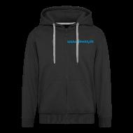 Pullover & Hoodies ~ Männer Premium Kapuzenjacke ~ Kapuzenjacke, schwarz