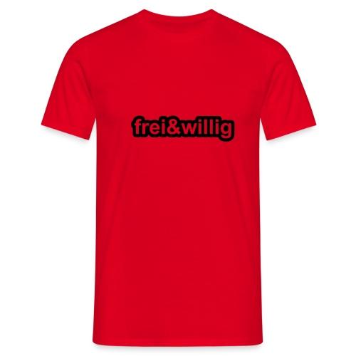 frei & willig rot/schwarz - Männer T-Shirt